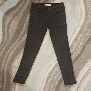 Zara Kids Collection Black Animal Print Jeans